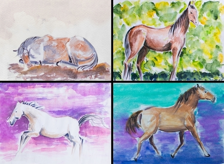 Watercolor study - draw, drawing - danteed | ello