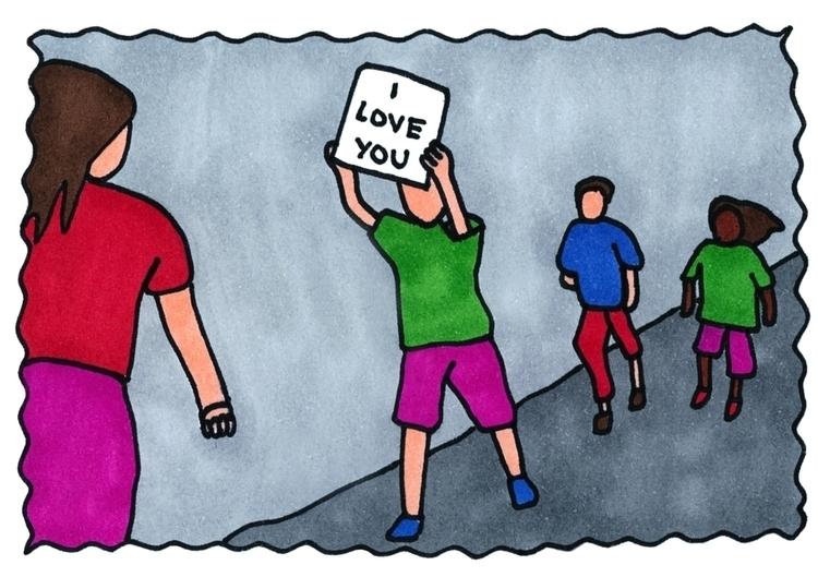 love, feltpen, illustration, colour - ajsazdrav | ello