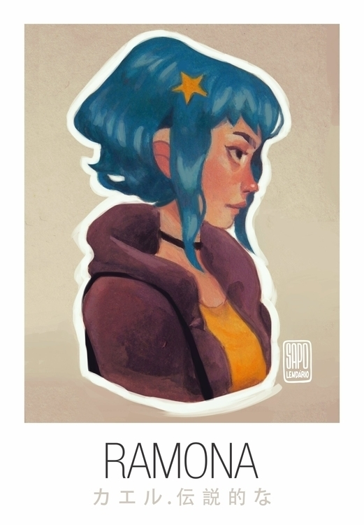 Ramona - illustration, painting - sapolendario | ello
