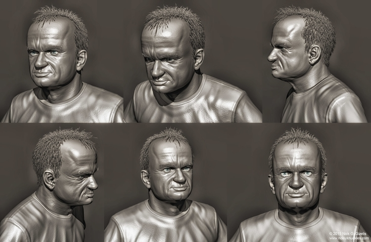 likeness sculpt actor Dominique - aumakua | ello