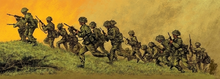 illustration, soldiers, army - dannybriggs | ello