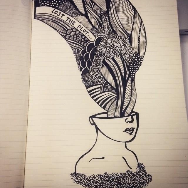 Lost plot - illustration, doodle - byeblackbirdy | ello