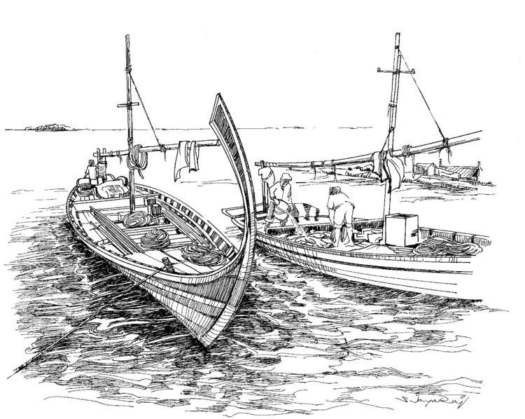 Fishing Boat- Maldives - illustration - sjayaraj999   ello