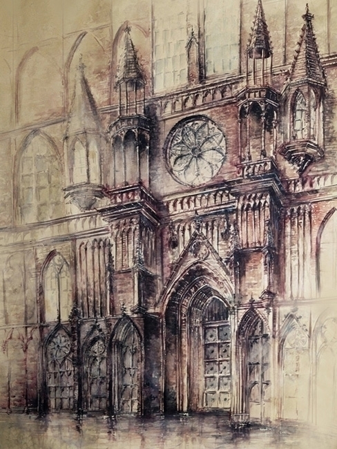 Cathedral 2 - watercolor, watercolour - grimdream | ello
