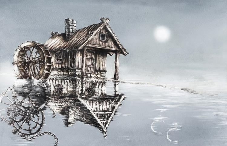 Station - watercolor, watercolour - grimdream | ello