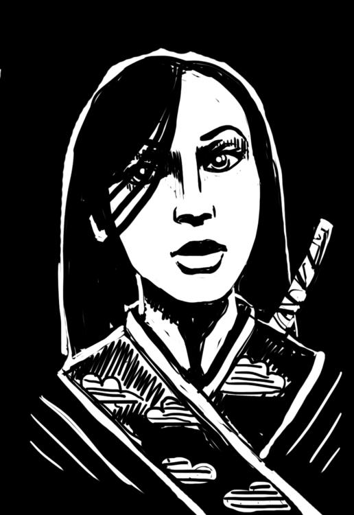 draft - girl, sword, katana, kimono - coconutter | ello