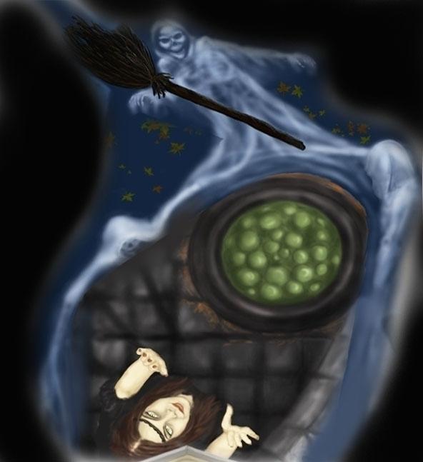 Witch-digital art - witch, ghost - spirita | ello