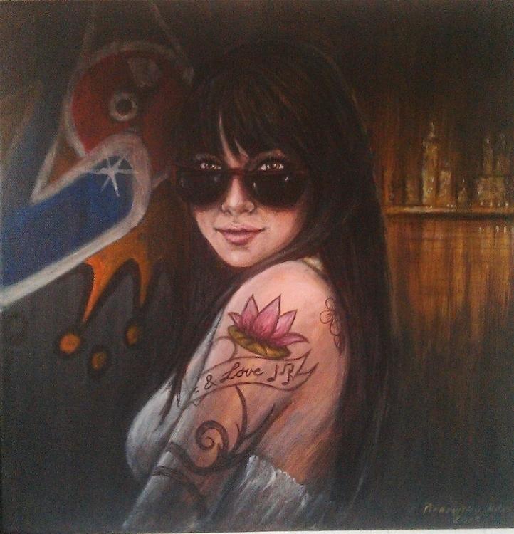 Tamara -acrylic painting - art, tattoo - spirita | ello