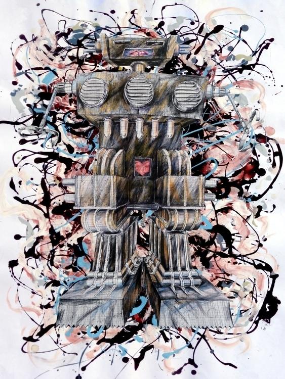 RobotExpressionist1 - illustration - johnsharp | ello