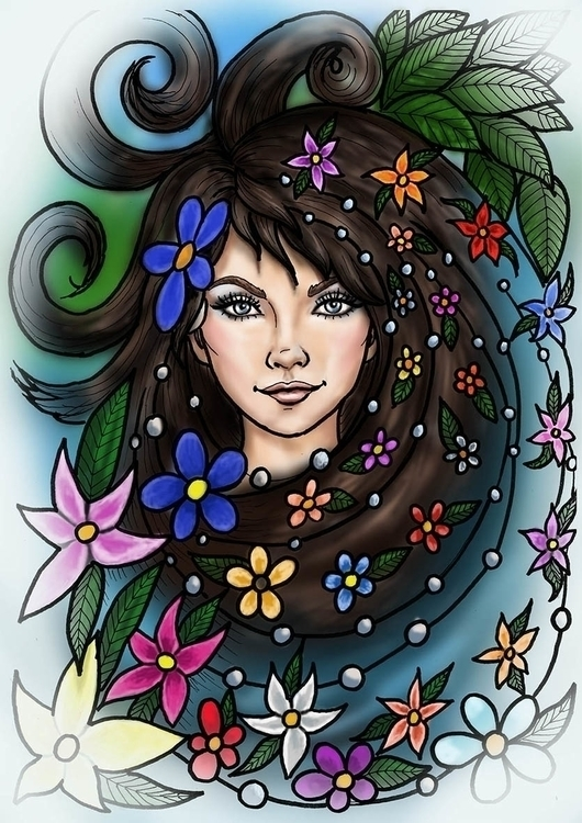 adult coloring book, fairy - coloringbook - spirita | ello