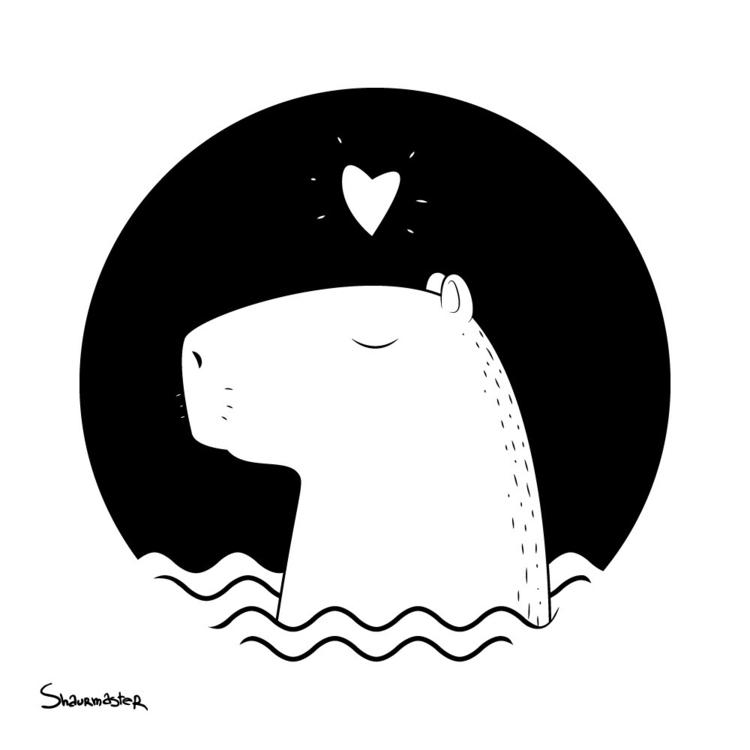 capybara - illustration - shaurmaster | ello