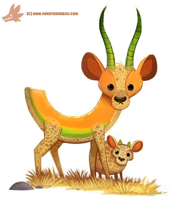 Daily Paint Cantalope - 1181. - piperthibodeau | ello