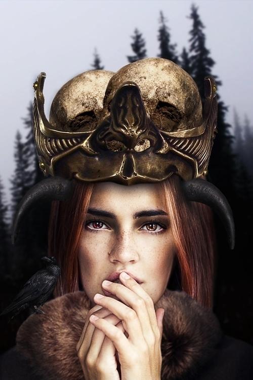 Crown Skull - photoshop, photomanipulation - lorep | ello