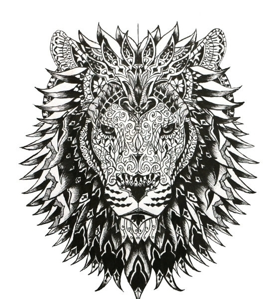 Lion Head - lion, pattern, patterndesign - cj_illustrations | ello