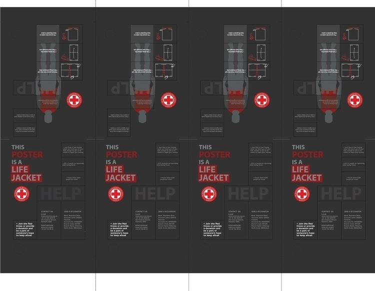 poster Red Cross functions life - powerdesign | ello