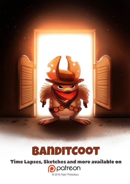 Day 1404. Banditcoot - piperthibodeau | ello
