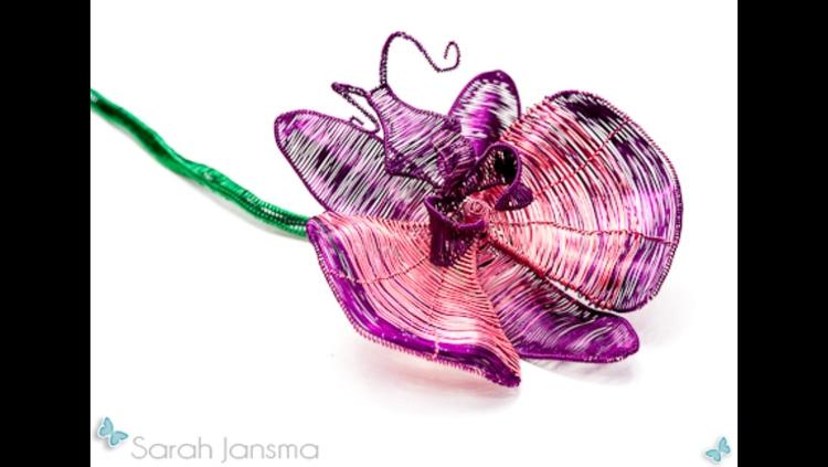 Wire Orchid - Sculpture, WireArt - sarahjansma | ello