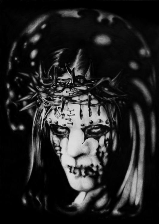 Pray sinners - illustration, drawing - chirimasmind   ello