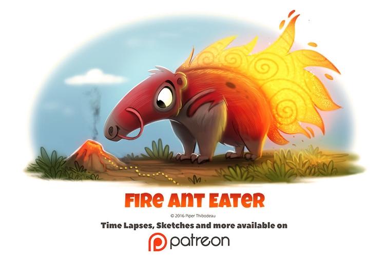 Day 1405. Fire Ant Eater - piperthibodeau | ello