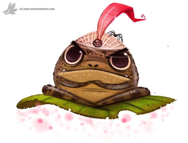 Daily Painting Frog Genie - 855. - piperthibodeau   ello
