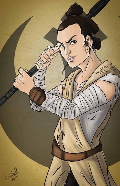 Rey holding signature staff ill - paulhall | ello