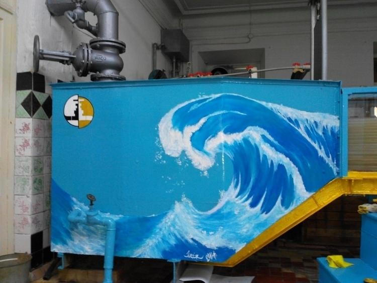 Wave - drawing, painting - nickyavir | ello