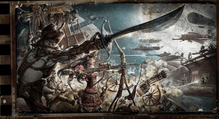 STEAMPUNK - illustration, steampunk - artkol | ello
