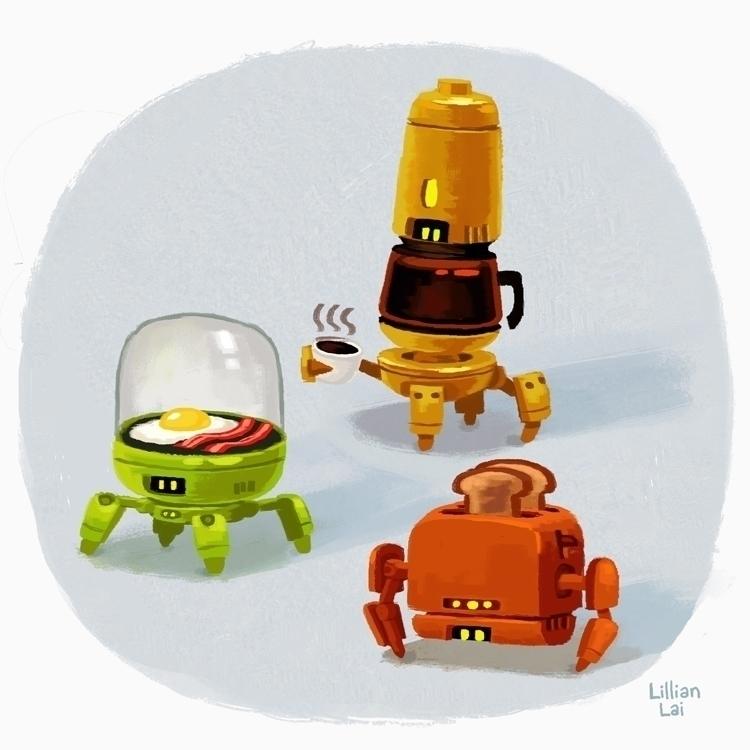 Breakfest 'bots - robots - lillisketch | ello