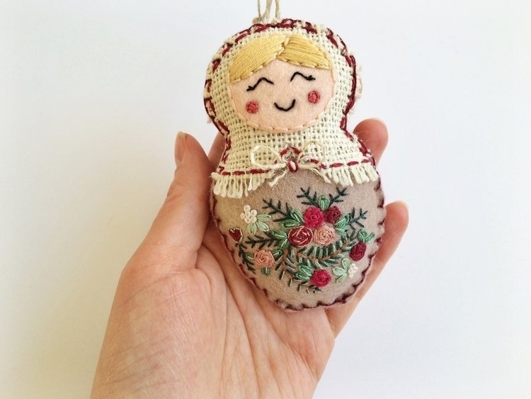 Matryoshka art doll. Hand embro - ceestitchery | ello