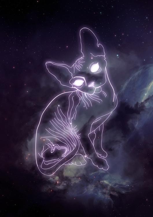 Space Sphynx - taylarowell | ello