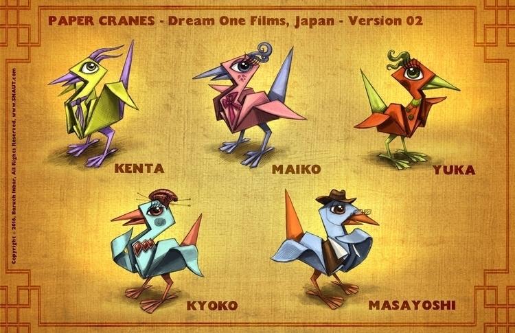 PAPER CRANES: hired Japanese pr - baruchinbar   ello
