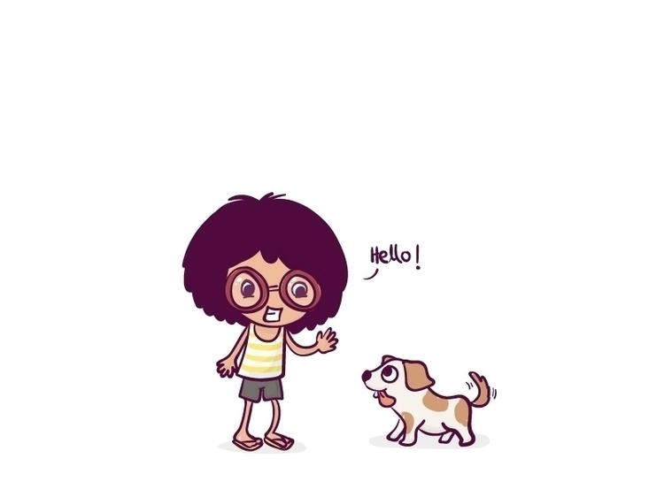 doggie ^.^ - illustration, characterdesign - soumya-3655 | ello