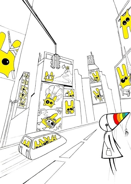 ..Street dreams - illustration, characterdesign - agama | ello