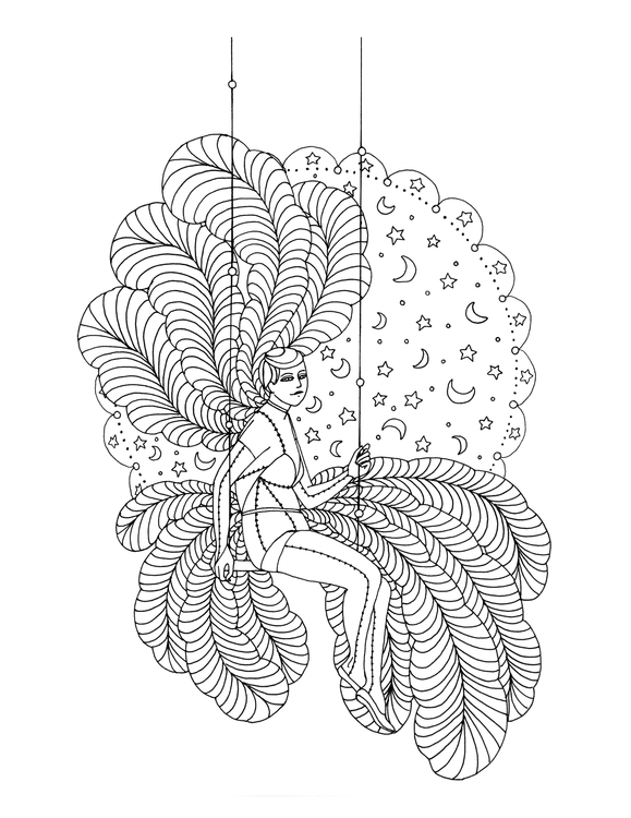 Swing Lady - illustration, drawing - rachelshayne-1154 | ello