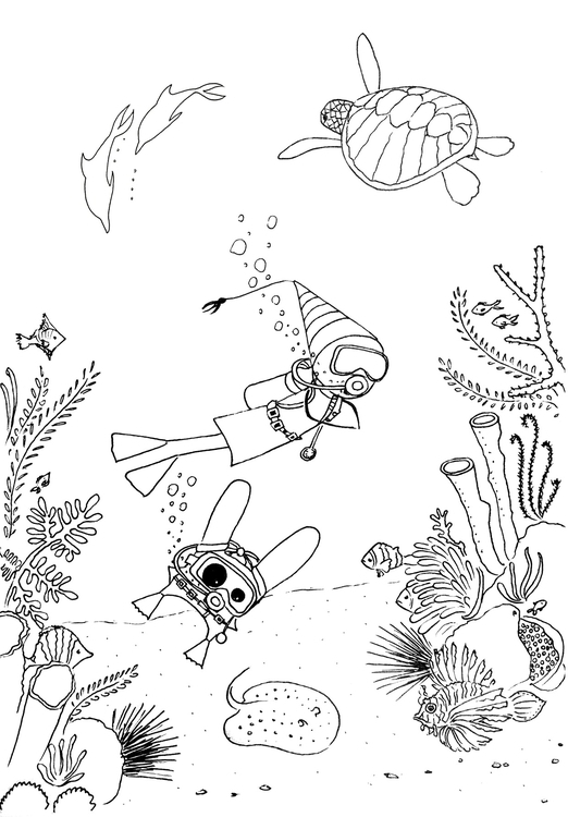 ..Underwater World - illustration - agama   ello