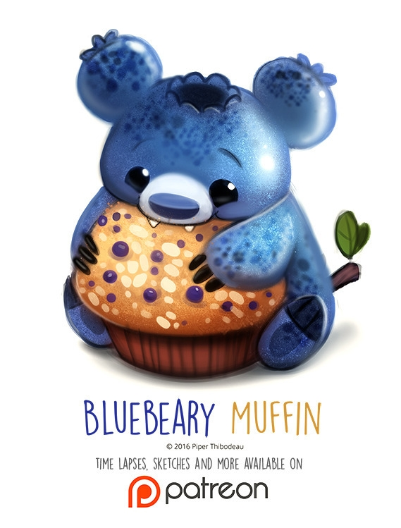 Day 1408. Bluebeary Muffin - piperthibodeau | ello