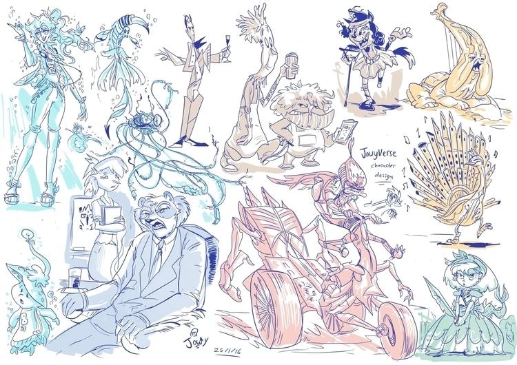 characterdesign, juxtapose, anthropomophic - jowybeanstudios   ello