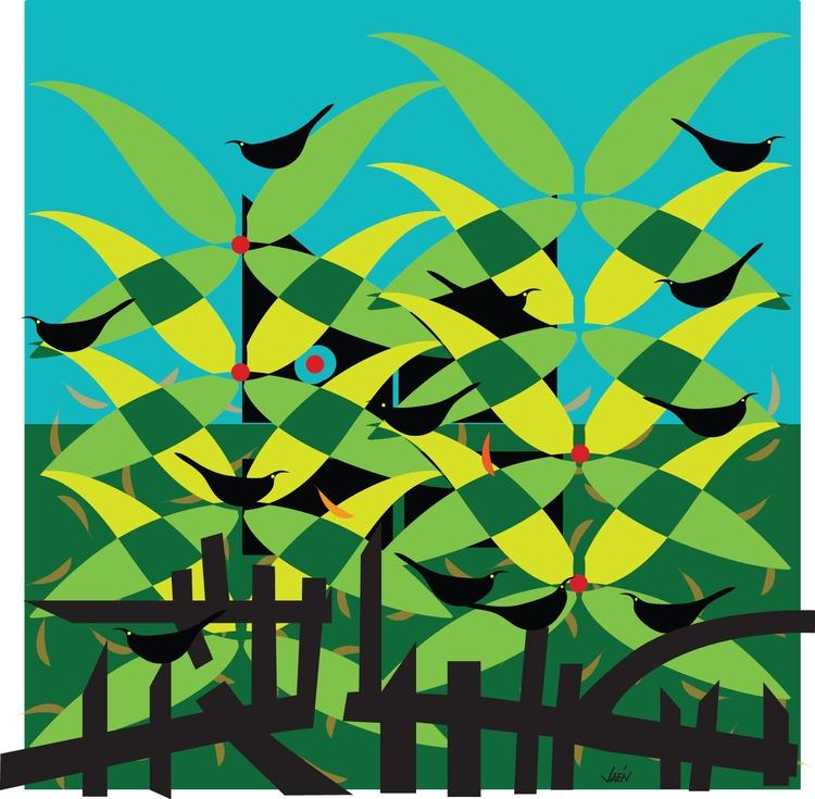 Cat Bush - illustration - manueljaen   ello