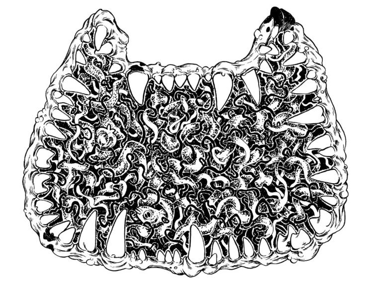 color Scab-Cat band logo - ink, blackandwhite - mjarvis-5786   ello