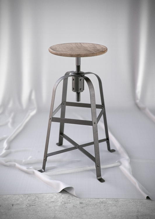 French Vintage Stool. Modeled R - esbenoxholm | ello