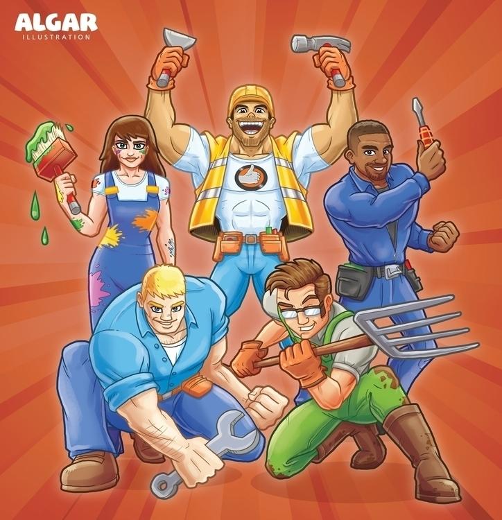 Web mascots Autorama UK - characters - jimalgar | ello