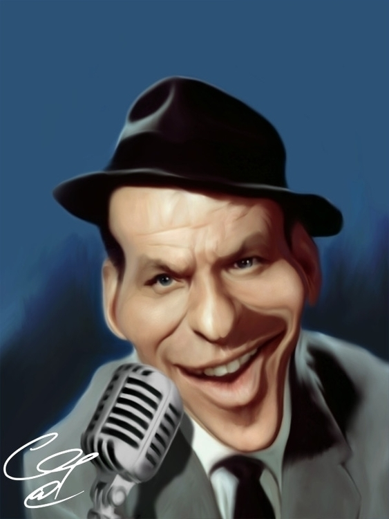 Sinatra 100 - drawing, caricature - gopher-1289 | ello