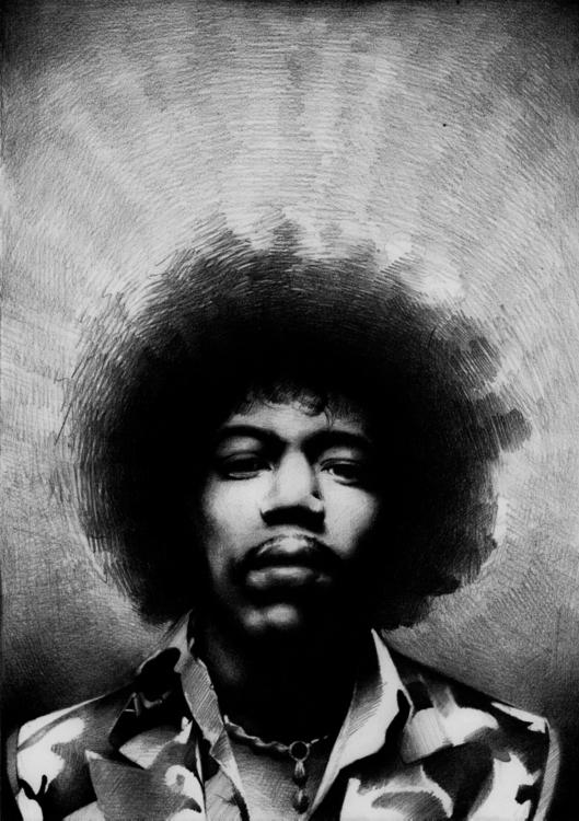 Jimi Hendrix - illustration, fineart - chirimasmind | ello