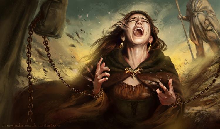 illustration, vampire, sun, fantasy - innavjuzhanina   ello