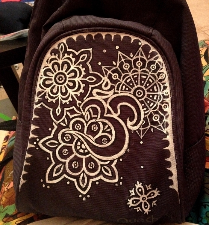 ..Om-backpack - craft, drawing, om - agama | ello