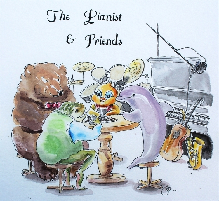 Album Art friend - illustration - emilygrobler | ello