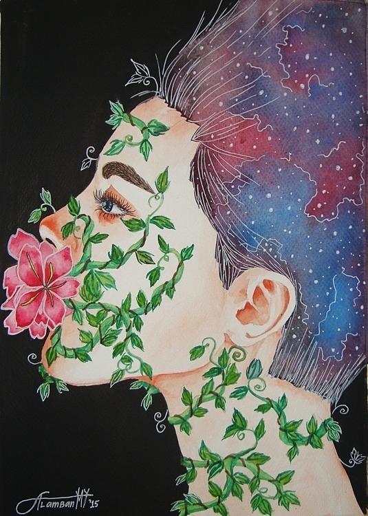 Power Words - illustration, painting - thearthobo | ello