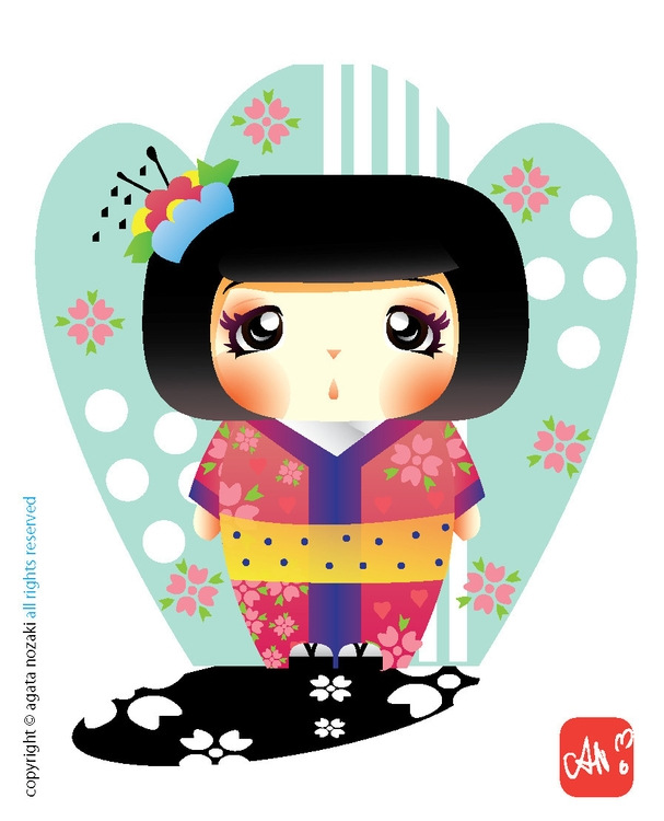 Kimono Momiji - cute, kawaii, character - anozaki | ello