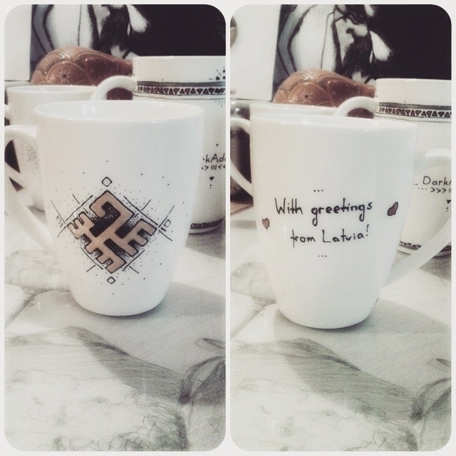 lovely coffee/team mug Firecros - saffiri | ello