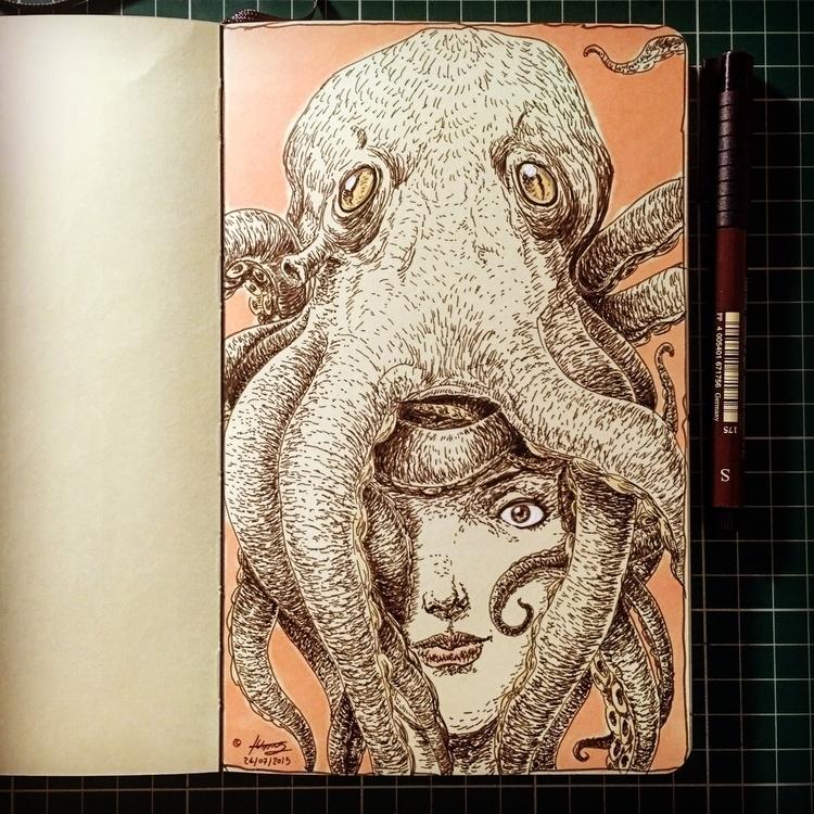 BAD HAIR DAY - sketch, sketchbook - mrflama | ello